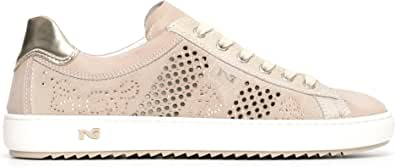 Nero Giardini P805100D Sneakers Femme en Cuir, Cuir Velours Et Toile