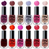NOY® Quick Dry One Stroke Color Nail Paint Combo Offer Set of 12 in Wholesale Rate 6 ml each(Violet, Brown, Nude, Light…