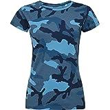 SOLS - Maglietta Camouflage a Maniche Corte - Donna