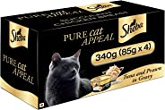 Sheba Delux Premium Wet Cat Food, Tuna & Prawn in Gravy, 4 Cans (4 x 85g)