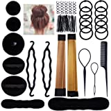 Lictin Ciambella Chignon Accessori Acconciature - Magic Bun Maker Chignon Facile per Capelli,Capelli Pins, Pastiglie, Schiuma