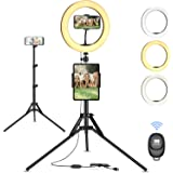 "Luce ad Anello Treppiedi 10"" LED Selfie Ring Light con Telecomando per Tik Tok, Telefono, Fotografia, Youtube, Trucco e video"