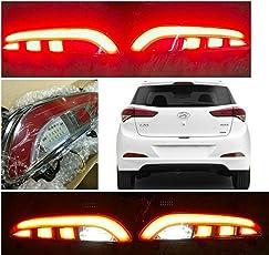 Autoxygen Back Bumper Rear Reflector DRL_2 For Hyundai I20 Elite - Set of 2 Pcs