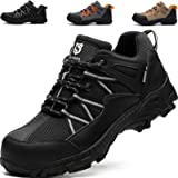 SUADEEX Safety Shoes Men Steel Toe Cap Trainers Mens Lightweight Breathable Safety Industrial Work Shoes Anti-Smashing Anti-P