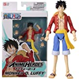 Bandai One Piece-Action Figure Anime Heroes 17 cm-Monkey D. Rufy-36931, Colore, 36931