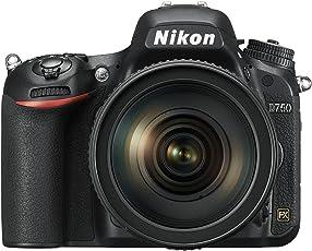 Nikon D750 SLR-Digitalkamera (24,3 Megapixel, 8,1 cm (3,2 Zoll) Display, HDMI, USB 2.0) Kit inkl. AF-S Nikkor 24-120 mm 1:4G ED VR Objektiv schwarz