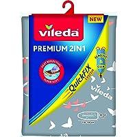Vileda Premium 2 in 1 Copriasse da Stiro Universale, Termoriflettente, 3 Strati, Imbottito, Cotone metallizzato, 30-45…