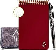"""Rocketbook Unbegrenzt Wiederverwendbares Notizbuch - Smart A6 """"Mini"""" - Scarlet Rot, Kariert, Inklusive Pilot FriXion Stift u"""