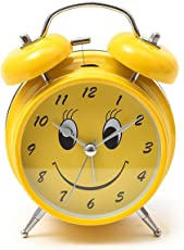 MSE Smiley Kids Room Table Clock (Steel) (Yellow)