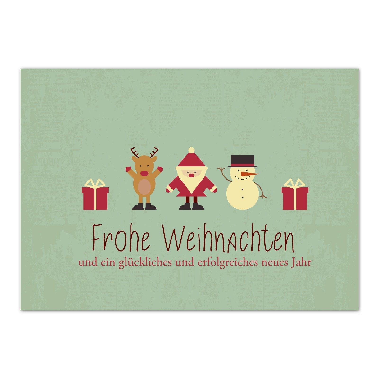 Weihnachtsgrüße Schreiben Privat.15 X Weihnachtskarten Moderner Vintage Look Grusskartenkaufen De