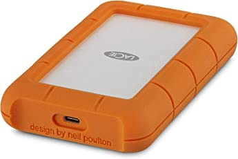 LaCie Rugged 2TB USB-C External Hard Drive (Orange)