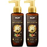 WOW Skin Science Sunscreen Matte Finish - Spf 55 Pa+++ - Very High Broad Spectrum - Uva &Uvb Protection - Quick Absorb - No P