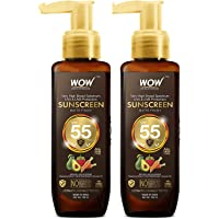 WOW Skin Science Sunscreen Matte Finish - Spf 55 Pa+++ - Very High Broad Spectrum - Uva &Uvb Protection - Quick Absorb…