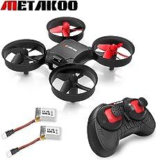 Metakoo Mini Drone mit 360º Schutz, Höhenretention, 2,4 GHz 4 Kanäle 6-Achsen-Gyro, für Kinder und Anfänger, Headless-Modus, 3D-Flips, 3 Modi der Geschwindigkeit, Dual-Batterien, Portable, M1
