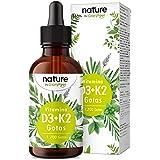 Vitamina D3 + K2 MK-7 en gotas - 5.000 U.I. por 5 gotas - 50ml (1700 Gotas) - Alta dosificación y Alta Bioactivdad con aceite