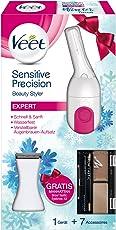 Veet Sensitive Precision Expert Winter Edition Augenbrauen Kit und gratis Manhattan Browtastic Eyebrow, 1er Pack (1 x 1 Stück)