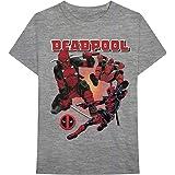 Deadpool Katana Guns Stance Marvel Comics Oficial Camiseta para Hombre