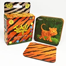 Jungle Enigma 3 Card Memory Game Animal, Pattern, Silhouette