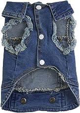 Jeansjacke für Hunde von Dairyshop, weiche, blaue Denimjacke