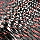 - 30M PSKOOK 550 Paracord /Überleben Cord Paracord Fire Cord Survival Feuerstarter Cord Gewachst Jute Zunder 7 Str/ängen 100/% Nylon Seil +3 Zunder, PE Angelschnur, Baumwollschnur