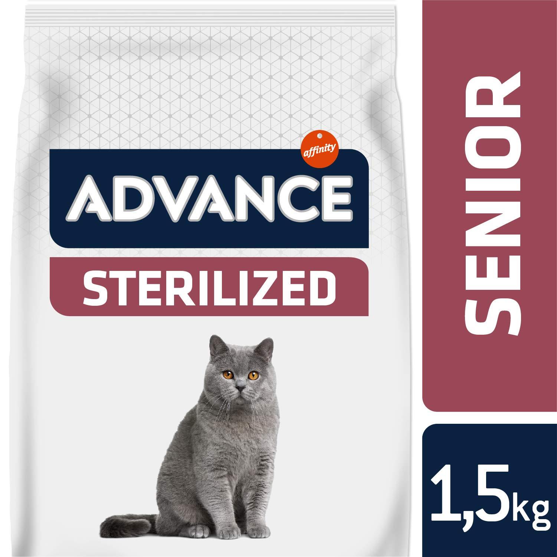 Advance Senior Sterilized – Pienso para Gatos Esterilizados de más de 10 años – 10 Kg