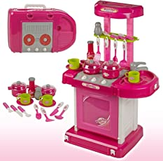 Cable World Luxury Battery Operated Kitchen Play Set for Kids, Multi Color