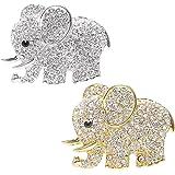 DEDC 2 pz Clip di Auto Presa Aria Deodorante Disegno Elefante di Strass Auto Aroma Profumo Clip Decorazione Accessori in Meta