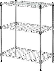 Cameltough - Wire Rack - 60 x 35 x 76 cm - Chrome 3 Shelf - HTC-WR602