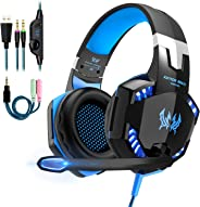 Cuffie da Gaming PC PS4, OCDAY con Microfono Headset Auricolare Gioco con 3.5mm LED Bass Stereo Noise Cancelling per Playstat