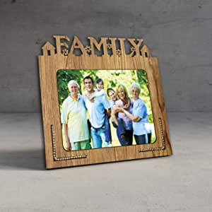 Generic Wood Glass Mdf Table Photo Frame (5x7 inch, Brown)