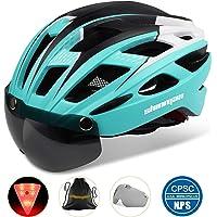 Shinmax Fahrradhelm,CE-Zertifikat,Fahrradhelm mit Abnehmbarer Schutzbrille Visier Shield für Männer Frauen Mountain Road…