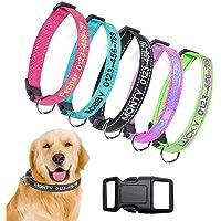 Collare per Cane in Nylon Personalizzato Personalizzato, Nome identificativo Ricamato Collare per Cani Reflective da…