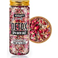 YOGAFY - Detox Spa Epsom Bath Salt with Pink Salt and Herbs - 100% Natural Aromatherapy, Exfoliate, Relaxation and…