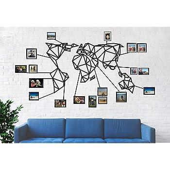 Carte Du Monde Murale Cartables Geometrique Carte Du Monde Synthese