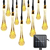 15ft 20 LeD Solar Festival Lights Outdoor Garden String Light Waterproof Tear Drop Style, for Garden, Patio, Yard, Camping, F