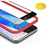BANNIO [2 Stück für Panzerglas für iPhone 7 Plus/iPhone 8 Plus [Installationsrahmen inklusive],HD Ultra-klar Panzerglasfolie Full Sreen,Anti-Kratzen,3D-Touch,Vollständige Abdeckung -Schwarz
