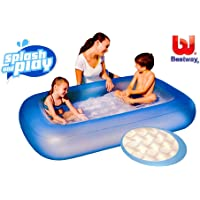 Bestway Planschbecken Pool rechteckig blau 165 x 104 cm
