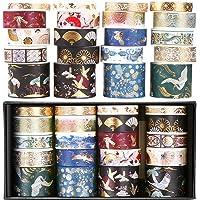 O-Kinee Washi Tape, Masking Tapes, Washi Tape Set, Ruban Adhésif Décoratif pour Artisanat, pour Ruban adhésif décoratif…
