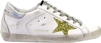 Golden Goose Sneakers Superstar Bianco Argento Oro