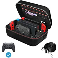 iVoler Game Traveler Deluxe and Storage Case for Nintendo Switch, Portable Nintendo Switch Carrying-All Protective Hard…