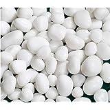 Schmick White Pebbles for Decoration - Pebbles for Plants Pots - Pebbles for Garden, Fish Tank Aquarium, Table, Vase Fillers