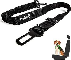 Rudelkönig Dog Car Seat Belt Elastic Seat Belt Fully Adjustable Suitable For All Car Types 60 80 Cm Küche Haushalt