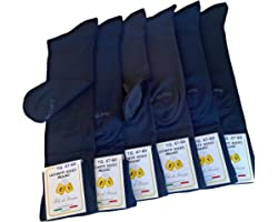 Lucchetti Socks Milano 6 PAIA calze LUNGHE taglie EXTRA 47-48-49-50 in cotone Filo di Scozia elasticizzato