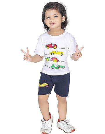Little Boys Short Kids Baby Cartoon Football Tops and Pants Clothing Sets