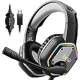 EKSA E1000 Gaming Headset für PS4 PC, Over-Ear Gaming Kopfhörer mit 7,1 Surround Sound 50MM Treiber und…