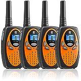 Walkie Talkie PMR446 16 Canales Función VOX Rango de 3KM 10 Tonos de Llamada con LCD Retroiluminada Walky Talky,Regalos para