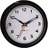 Interdesign Forma Suction Bathroom Clock - H 3.30 X W 10.16 X L 12.7 Cm, Brown, Material: Multi