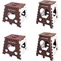 Primelife Plastic Super Strong Adjustable Portable Folding Step Stool for Adults and Kids, Kitchen Stepping Stools 12…