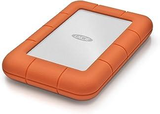 LaCie LAC9000298 Mini 2 TB Externe robuste Festplatte (6,4 cm (2,5 Zoll) Rugged, Staub-, Stoss- und Spritzwasser- geschützt, USB 3.0)