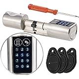 VisorTech Türschließzylinder: Elektronischer Tür-Schließzylinder, Transponder-Schlüssel, Zahlen-Code (Elektronisches Türschloss)
